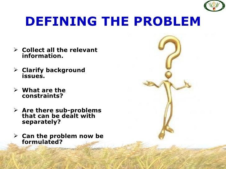 Decision making problem solving – Problem Solving Skills Worksheets