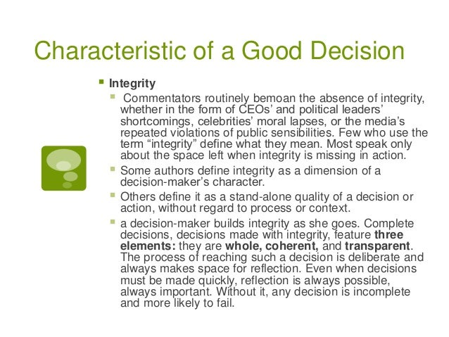 decision making report This report was prepared for the  district data system features and district use of data for decision making  by the us department of education's policy.
