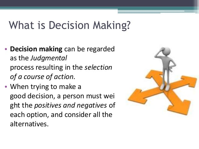 the importance of making good decisions