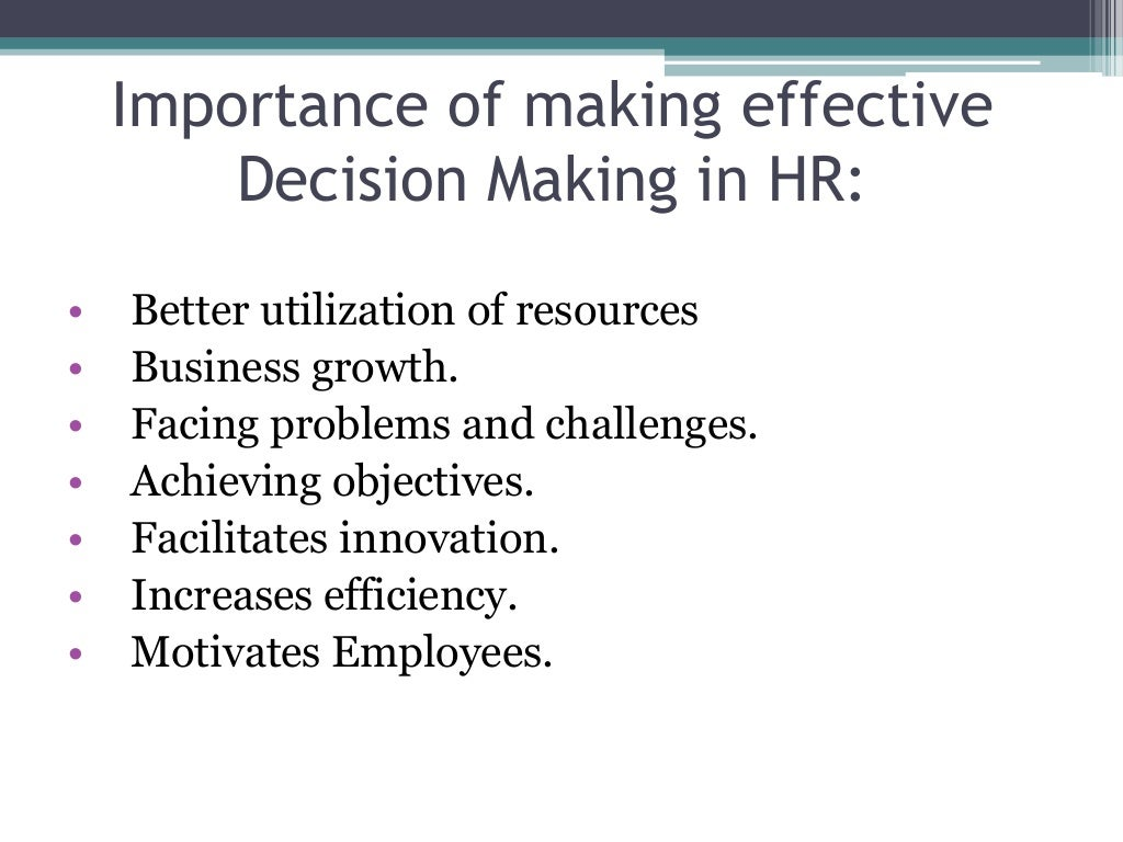 decision making skills We are faced with the need to make decisions every day should we bring product a or b to market which marketing strategy should we use of the choices that we have available, who is the best person to hire or who would make the best partner in each case, we try to rely on as many facts as we can.