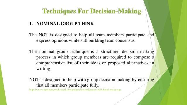 decision making techniques definition
