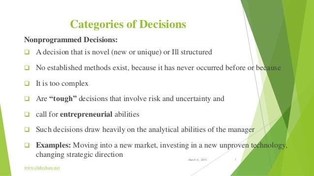 tough decisions examples