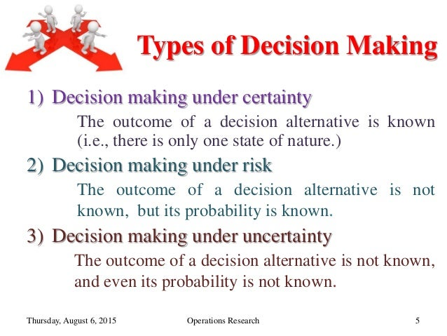 operations research decision making under uncertainty Grani a hanasusanto is an assistant  he also works on problems related to sequential decision making under uncertainty  annals of operations research, .