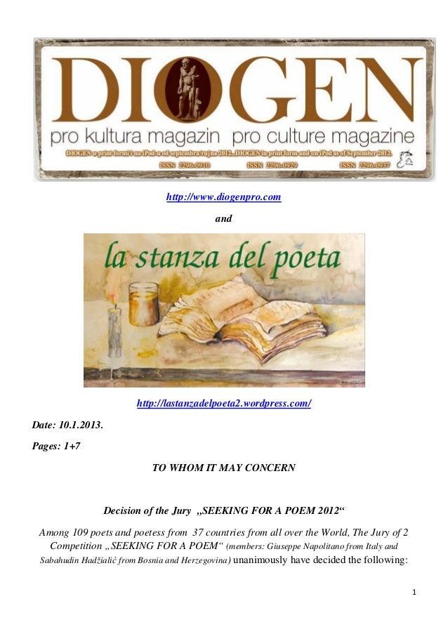 http://www.diogenpro.com                                              and                           http://lastanzadelpoet...