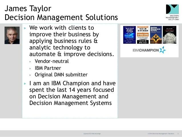 DecisionsFirst Modeler and IBM ODM Demonstration  Slide 2