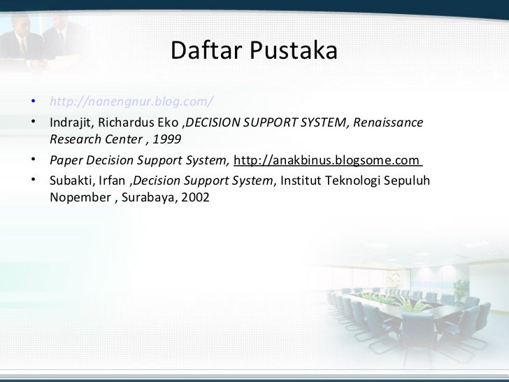 decision support system term paper