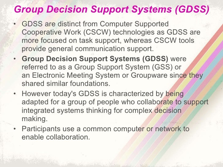 Facilitation of group work using the technology of groupware