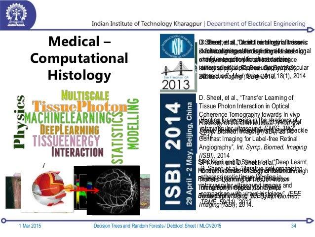 Medical – Computational Histology 1 Mar 2015 Decision Trees and Random Forests / Debdoot Sheet / MLCN2015 34 D. Sheet, et ...