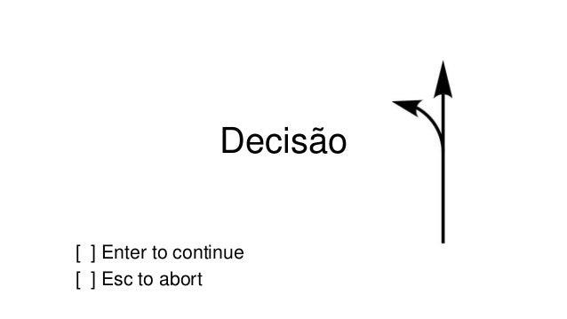 Decisão  [ ] Enter to continue  [ ] Esc to abort