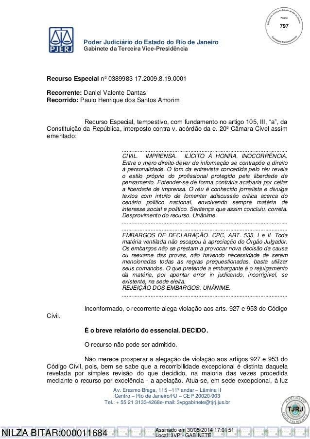 Poder Judiciário do Estado do Rio de Janeiro Gabinete da Terceira Vice-Presidência Av. Erasmo Braga, 115 –11º andar – Lâmi...