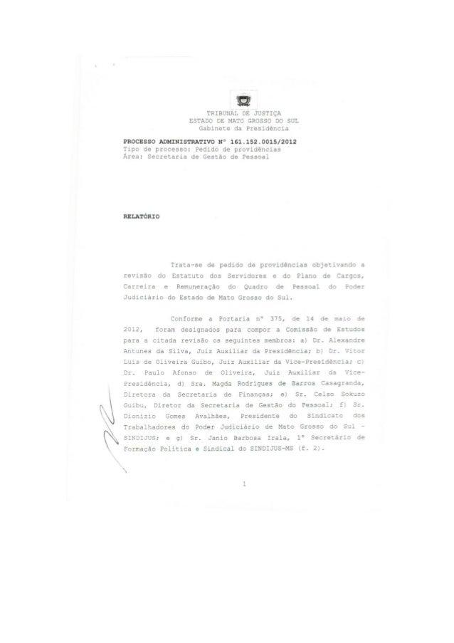 Decisão presidente TJMS