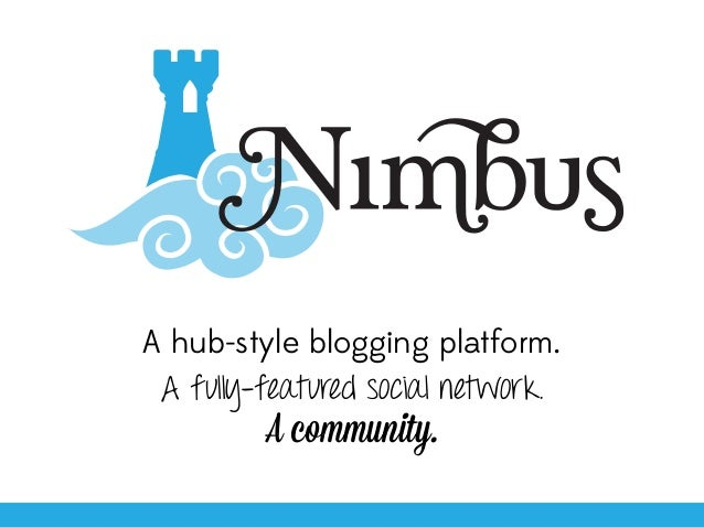 A hub-style blogging platform.A fully-featured social network.A community.