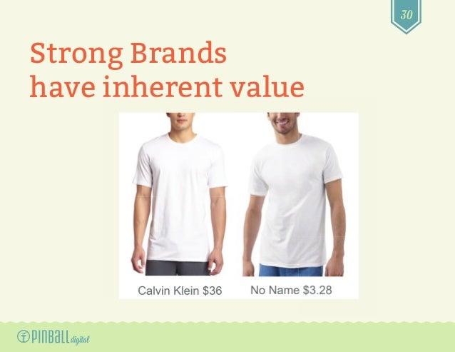 30 Strong Brands have inherent valuehave inherent value