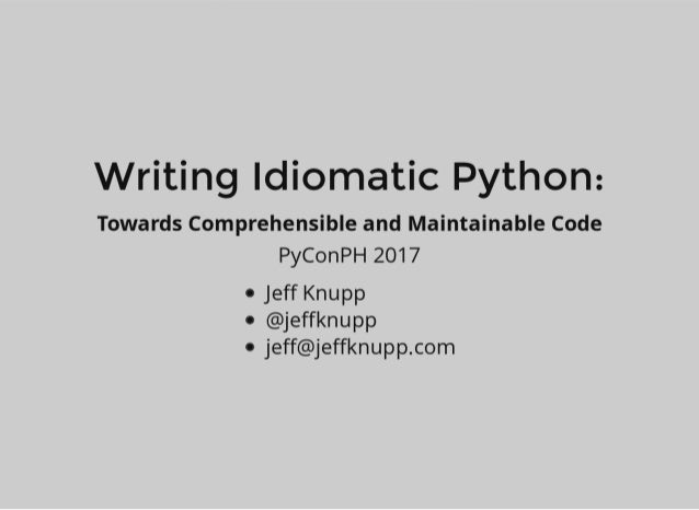 Writing website in python
