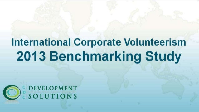 International Corporate Volunteerism (ICV) 2013 Benchmarking Study
