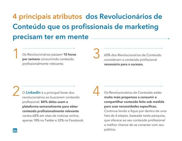 4 principais atributos dos Revolucionários de Conteúdo que os profissionais de marketing precisam ter em mente 1 3 2 4 Os R...