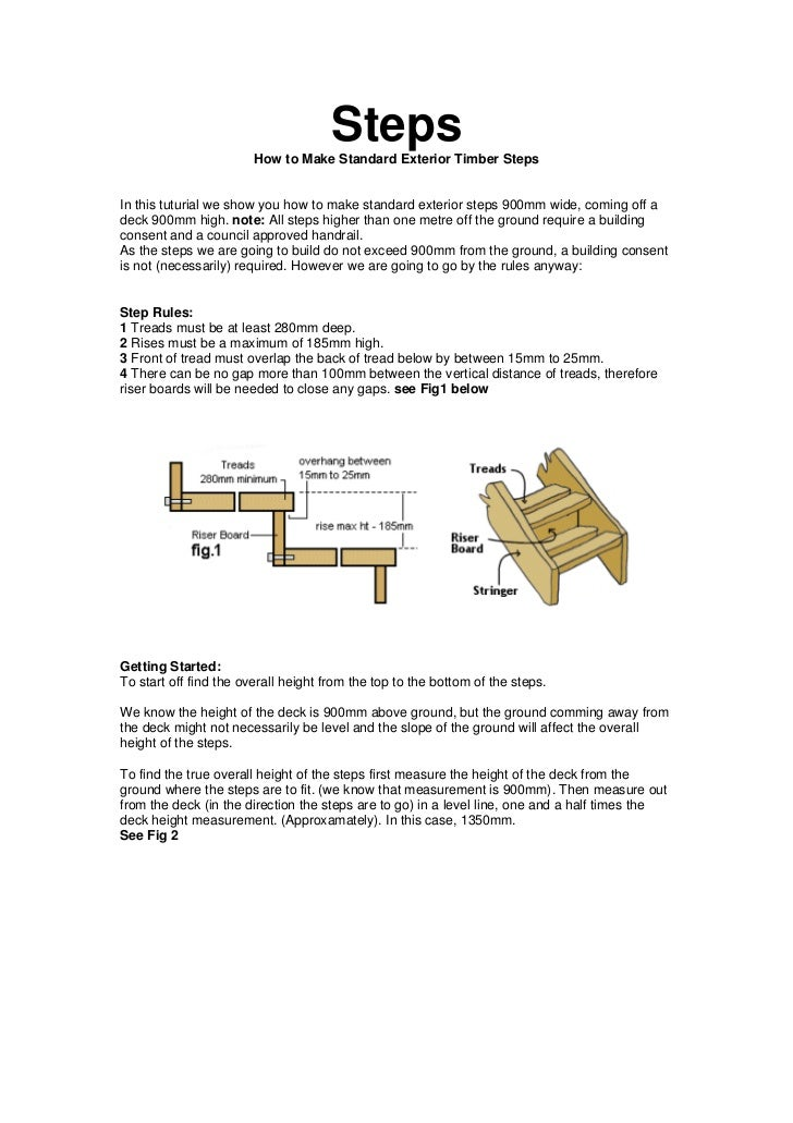 Steps                        How to Make Standard Exterior Timber StepsIn this tuturial we show you how to make standard e...