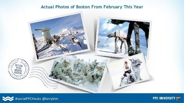#socialPPCHacks @larrykim Actual Photos of Boston From February This Year