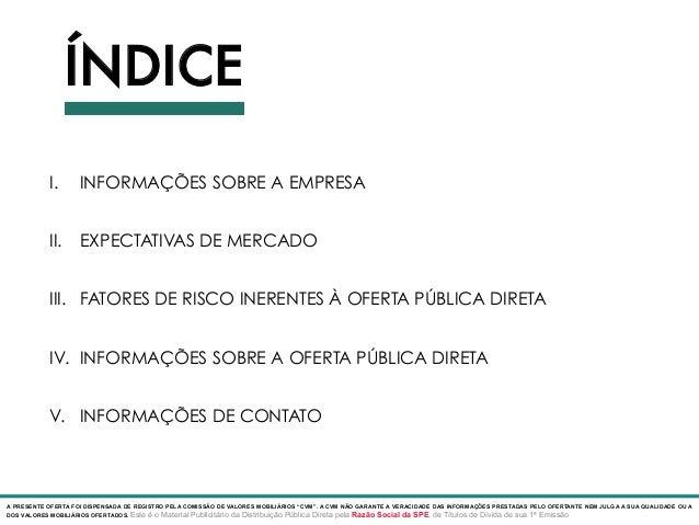 Modelo de Deck para Oferta Pública via SPE Slide 3