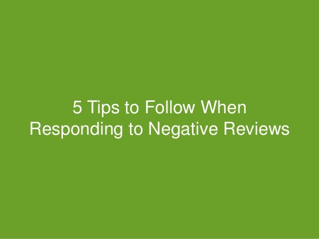 #GDChat 5 Tips to Follow When Responding to Negative Reviews