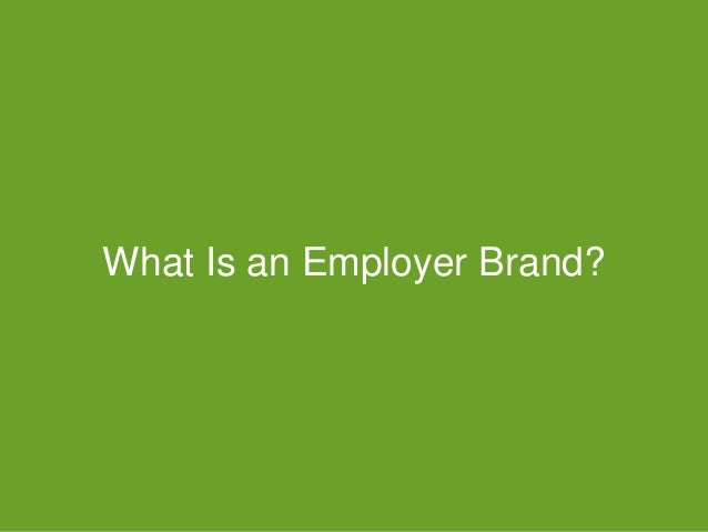 #GDChat What Is an Employer Brand?