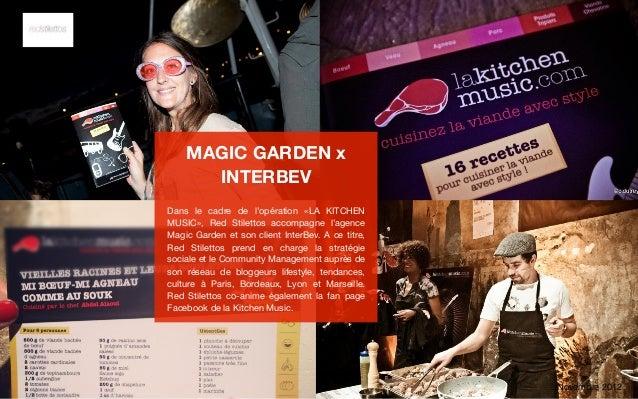 MAGIC GARDEN x      INTERBEVDans le cadre de l'opération «LA KITCHENMUSIC», Red Stilettos accompagne l'agenceMagic Garden ...