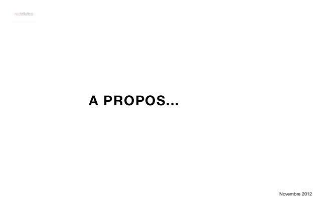 A PROPOS...              Novembre 2012