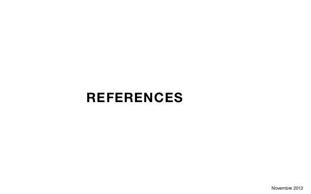 REFERENCES             Novembre 2012