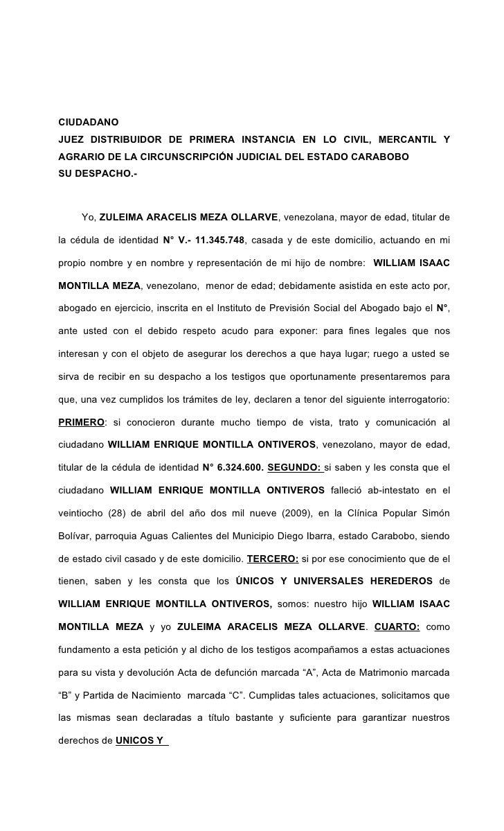 CIUDADANOJUEZ DISTRIBUIDOR DE PRIMERA INSTANCIA EN LO CIVIL, MERCANTIL YAGRARIO DE LA CIRCUNSCRIPCIÓN JUDICIAL DEL ESTADO ...