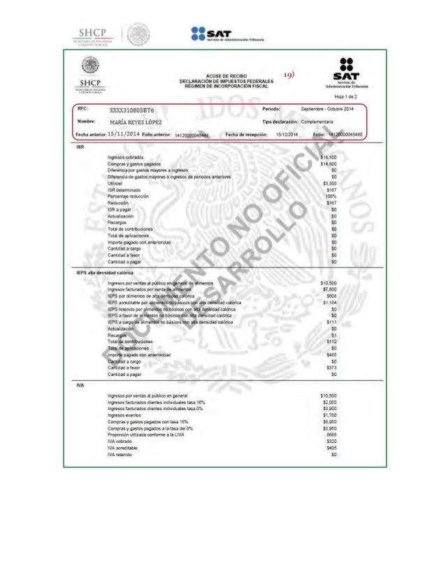 manual para declarar ventas con factura y al público en general del r