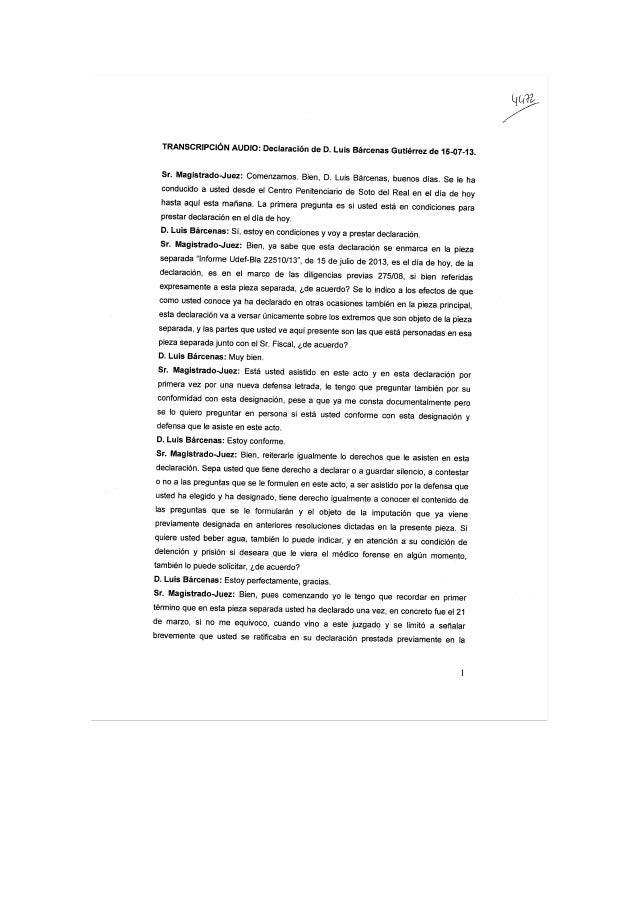Declaracion Bárcenas (completa)