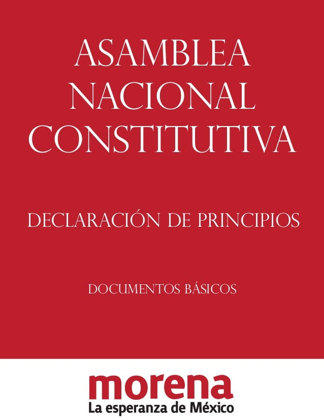 ASAMBLEA NACIONAL CONSTITUTIVA DECLARACIÓN DE PRINCIPIOS  DOCUMENTOS BÁSICOS
