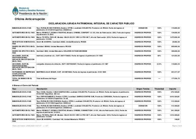 INMUEBLES EN EL PAIS Tipo: RURALES SIN VIVIENDA, Destino: OTRO, Localidad: CHILECITO, Provincia: LA RIOJA, Fecha de ingres...