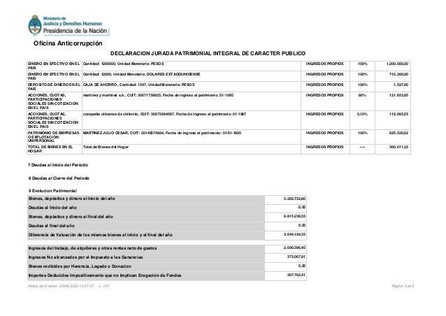 DINERO EN EFECTIVO EN EL PAIS Cantidad: 1200000, Unidad Monetaria: PESOS INGRESOS PROPIOS 100% 1.200.000,00 DINERO EN EFEC...