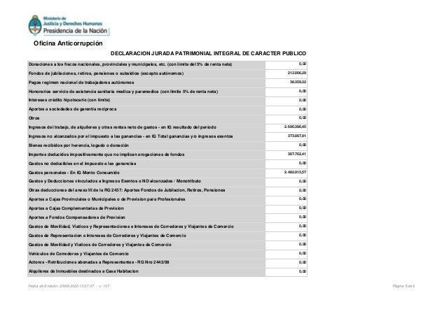 Donaciones a los fiscos nacionales, provinciales y municipales, etc. (con l�mite del 5% de renta neta) 0,00 Fondos de jubi...