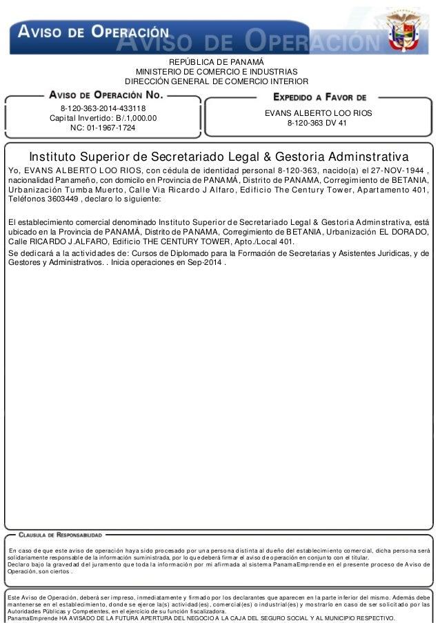 Registro legal for Ministerio de interior en ingles