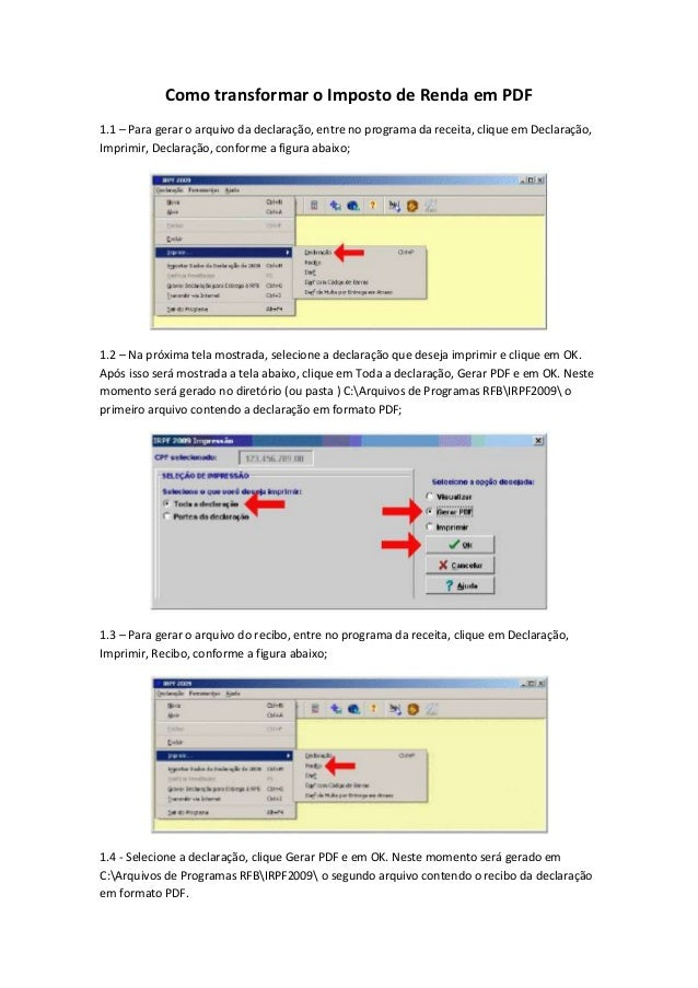 arquivo irpf 2009