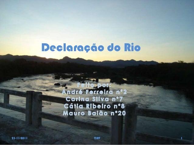Declaração do Rio23-11-2011            TIAT       1