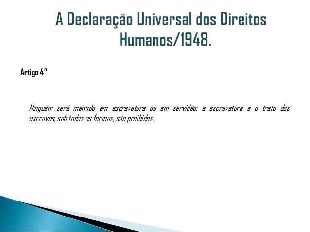 Artigos declaracao universal dos direitos humanos