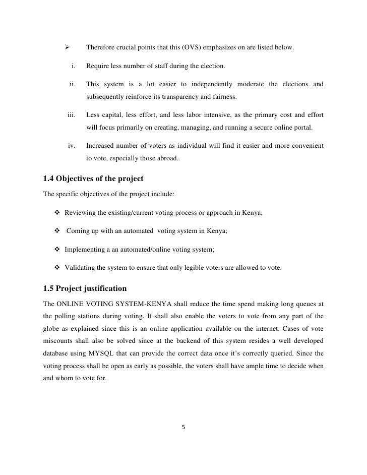 online voting system project report pdf