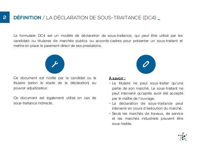 Declaration De Sous Traitance Dc4