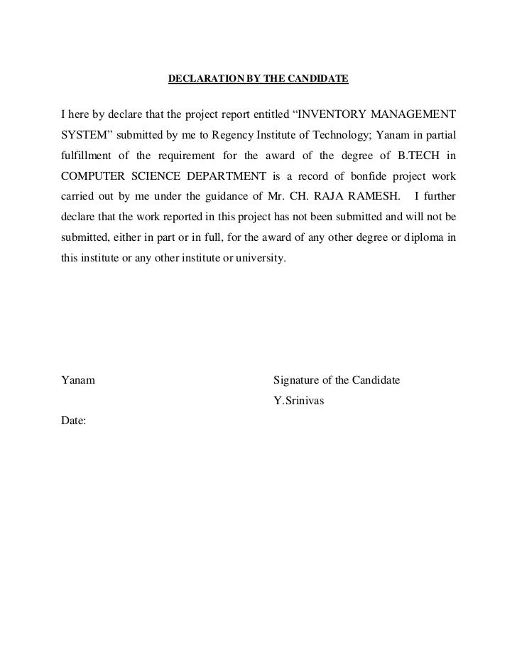 Declaration by the candidate declaration by the candidatei here by declare that the project report entitled inventory managementsystem altavistaventures Image collections