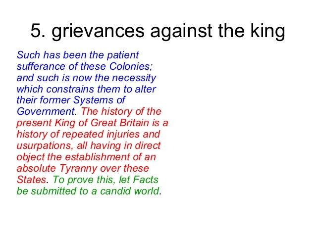 5. grievances ...