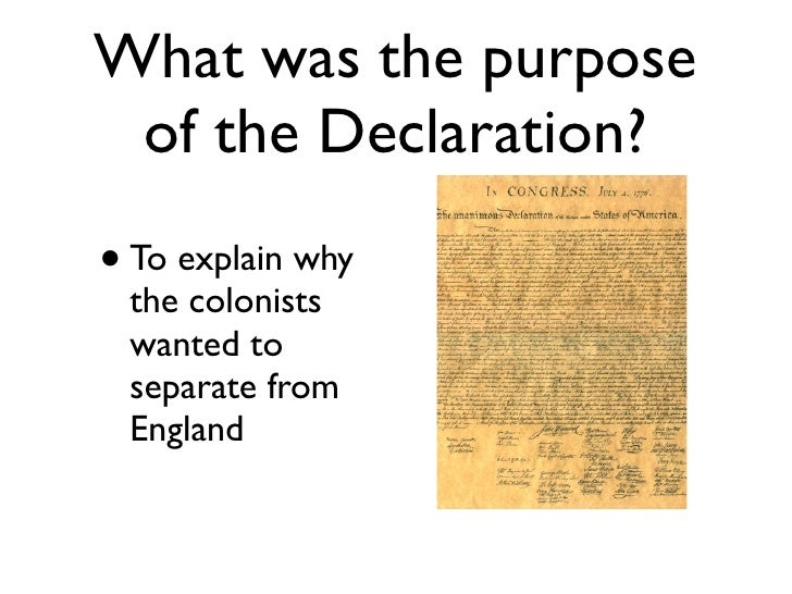 "purpose of the declaration of independence essay We will write a custom essay sample on ""the declaration of independence"" by thomas jefferson specifically for you for only $1638 $139/page."