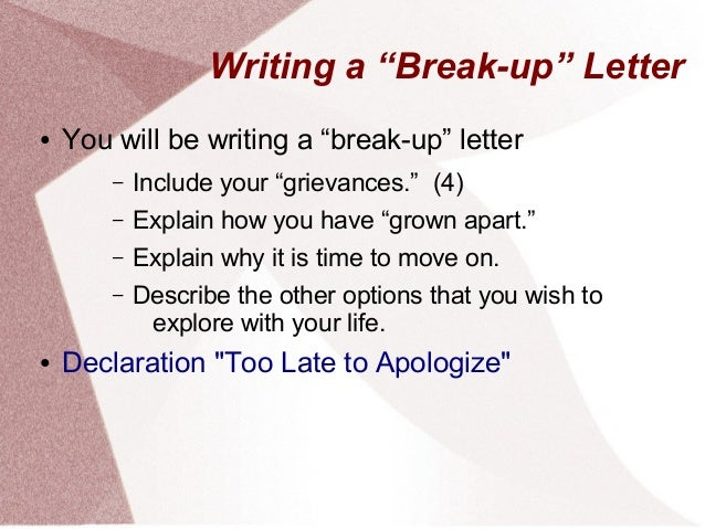 How to Write a Nice Breakup Letter
