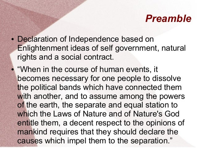 Human Nature And The Declaration Of Independence