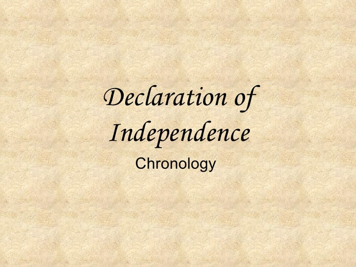 Declaration of Independence    Chronology