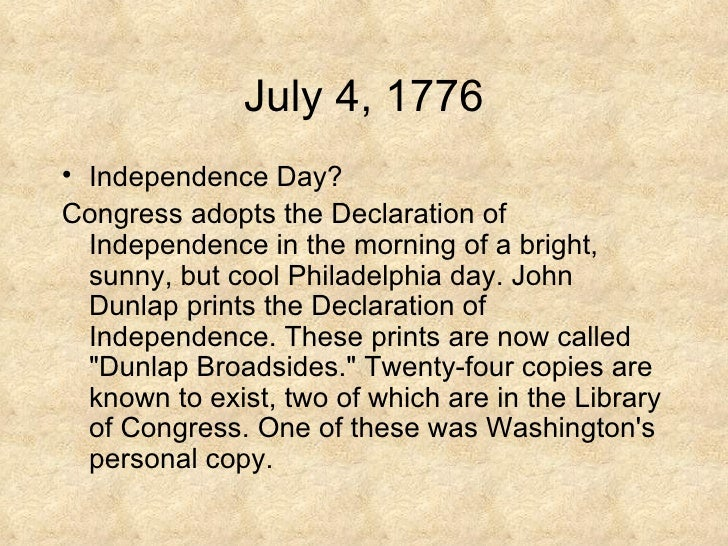 Declaration of independence date