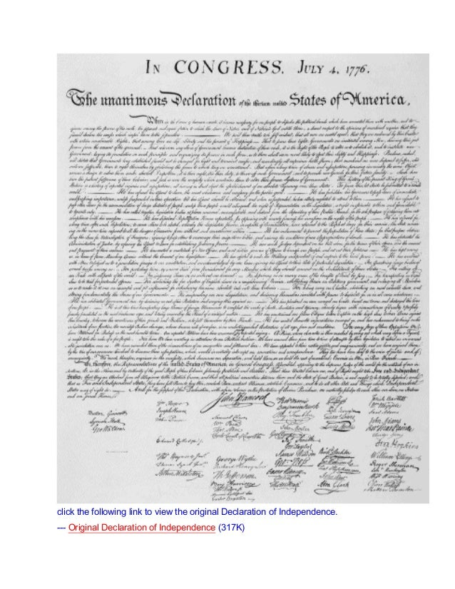 Declaration of independence text