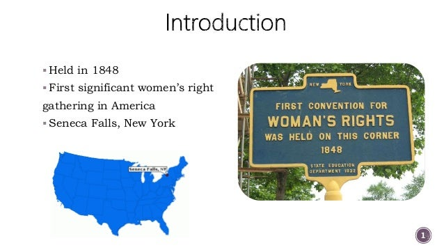 seneca falls declaration 1848 The seneca falls convention (1848)  over 300 men and women came to seneca falls  the declaration of sentiments and resolutions issued by the convention, .